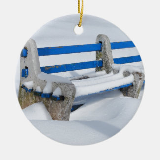 Ornamento De Cerâmica Banco da neve
