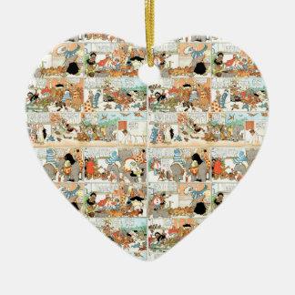 Ornamento De Cerâmica Banda desenhada velha
