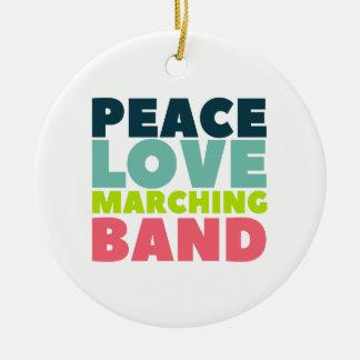 Ornamento De Cerâmica Banda do amor da paz