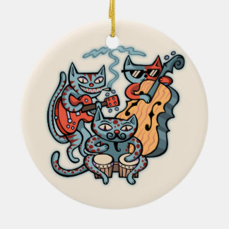 Ornamento De Cerâmica Banda Hep do gato