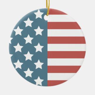 Ornamento De Cerâmica Bandeira americana