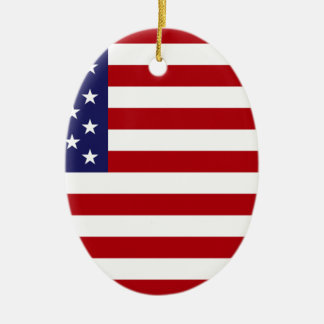 Ornamento De Cerâmica Bandeira americana - bandeira dos Estados Unidos -