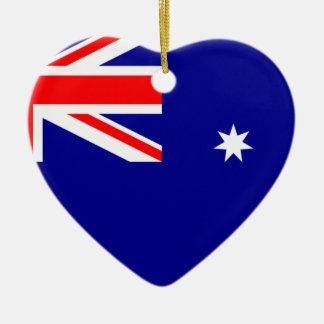 Ornamento De Cerâmica Bandeira Austrália. Símbolo australiano