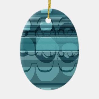 Ornamento De Cerâmica Bandeira azul
