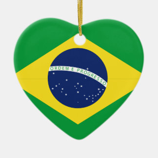 Ornamento De Cerâmica Bandeira brasileira