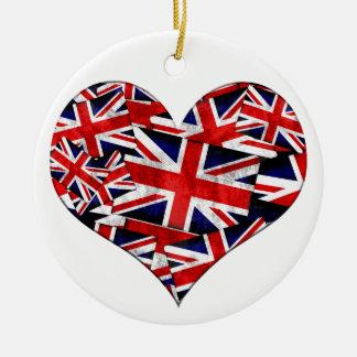 Ornamento De Cerâmica Bandeira britânica de Union Jack Inglaterra Reino