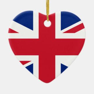 """Ornamento De Cerâmica Bandeira BRITÂNICA """"Union Jack """" de Reino Unido da"""