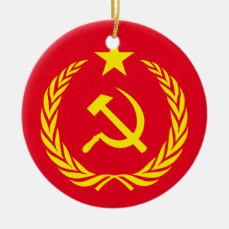 Ornamento De Cerâmica Bandeira cerâmica do comunista da guerra fria do