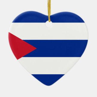 Ornamento De Cerâmica Bandeira cubana - bandera Cubana - bandeira de
