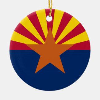 Ornamento De Cerâmica Bandeira da arizona