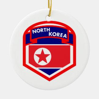 Ornamento De Cerâmica Bandeira da Coreia do Norte