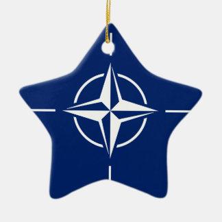 Ornamento De Cerâmica Bandeira da OTAN