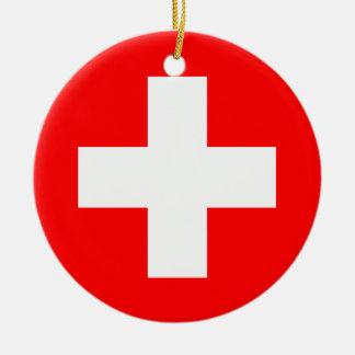 Ornamento De Cerâmica Bandeira da suiça