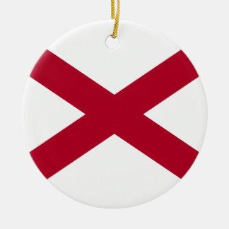 Ornamento De Cerâmica Bandeira de Alabama