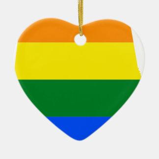 Ornamento De Cerâmica Bandeira de Alabama LGBT