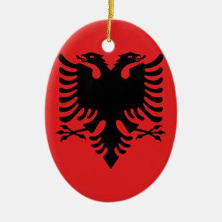 Ornamento De Cerâmica Bandeira de Albânia - Flamuri mim Shqipërisë