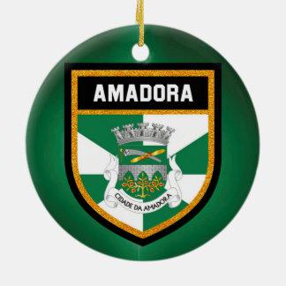 Ornamento De Cerâmica Bandeira de Amadora