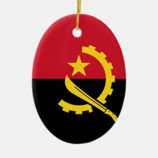 Ornamento De Cerâmica Bandeira de Angola - Bandeira de Angola