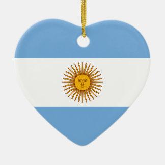 Ornamento De Cerâmica Bandeira de Argentina - bandera de Argentina
