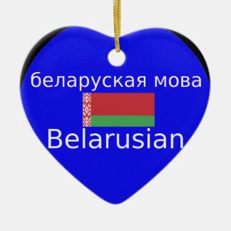Ornamento De Cerâmica Bandeira de Belarus e design da língua