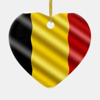 Ornamento De Cerâmica Bandeira de Bélgica