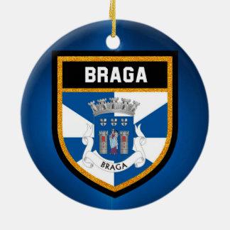 Ornamento De Cerâmica Bandeira de Braga