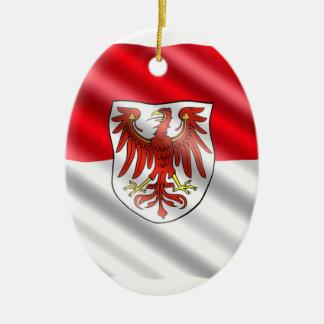 Ornamento De Cerâmica Bandeira de Brandemburgo