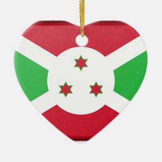 Ornamento De Cerâmica Bandeira de Burundi