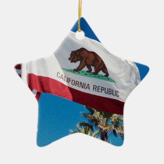 Ornamento De Cerâmica Bandeira de Califórnia