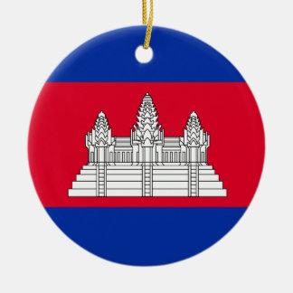 Ornamento De Cerâmica Bandeira de Cambodia