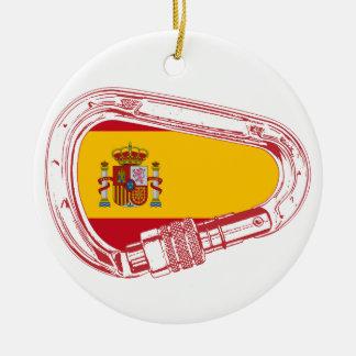 Ornamento De Cerâmica Bandeira de Carabiner da espanha
