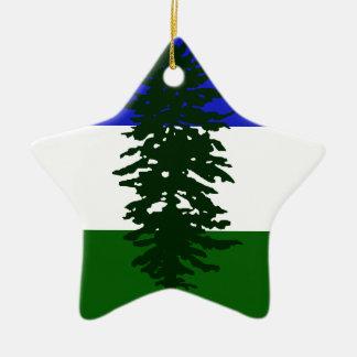 Ornamento De Cerâmica Bandeira de Cascadia