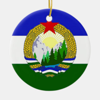 Ornamento De Cerâmica Bandeira de Cascadia socialista