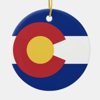 Ornamento De Cerâmica Bandeira de Colorado