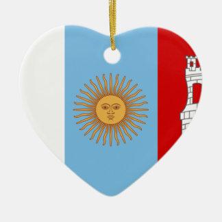 Ornamento De Cerâmica Bandeira de Córdova, Argentina