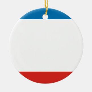 Ornamento De Cerâmica Bandeira de Crimeia