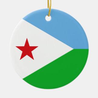 Ornamento De Cerâmica Bandeira de Djibouti