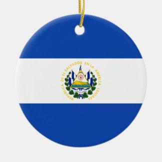 Ornamento De Cerâmica Bandeira de El Salvador - bandera de El Salvador