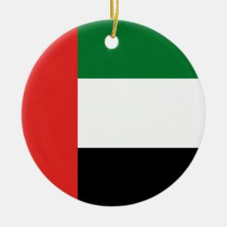 Ornamento De Cerâmica Bandeira de Emiradosarabes