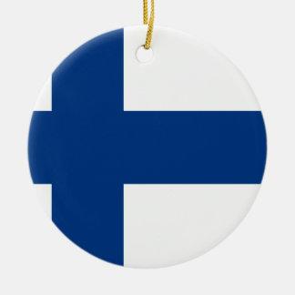 Ornamento De Cerâmica Bandeira de Finlandia