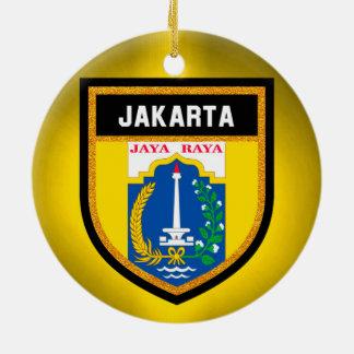 Ornamento De Cerâmica Bandeira de Jakarta
