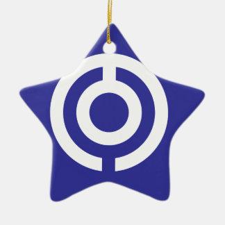 Ornamento De Cerâmica Bandeira de Japão-Okinawa