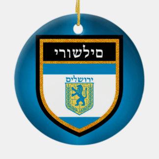 Ornamento De Cerâmica Bandeira de Jerusalem