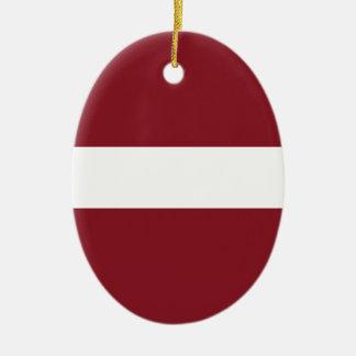 Ornamento De Cerâmica Bandeira de Latvia