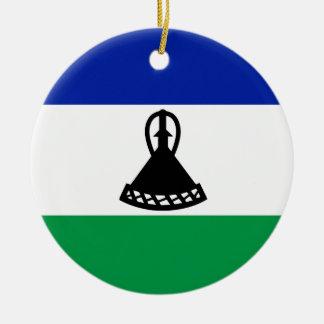 Ornamento De Cerâmica Bandeira de Lesotho