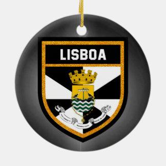 Ornamento De Cerâmica Bandeira de Lisboa