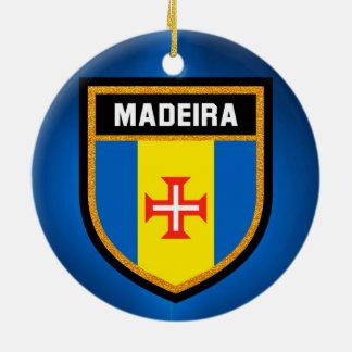 Ornamento De Cerâmica Bandeira de Madeira