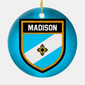 Ornamento De Cerâmica Bandeira de Madison