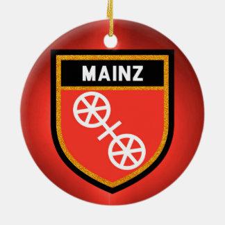 Ornamento De Cerâmica Bandeira de Mainz