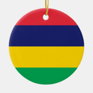 Ornamento De Cerâmica Bandeira de Maurícia